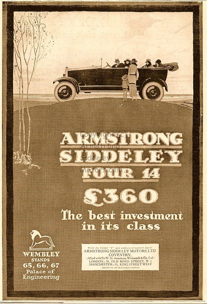 Armstrong Siddeley 1924 British Empire Exhibition