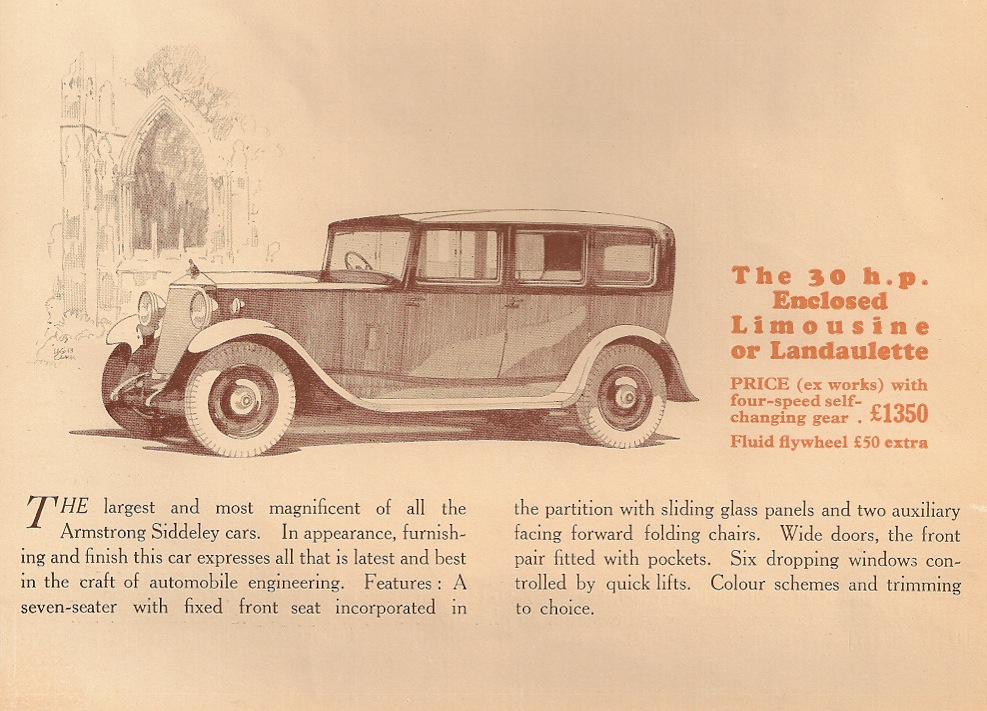 Armstrong Siddeley 30 HP 1931