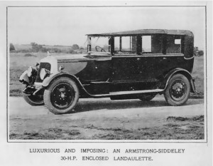 Armstrong Siddeley car 30 HP 1925