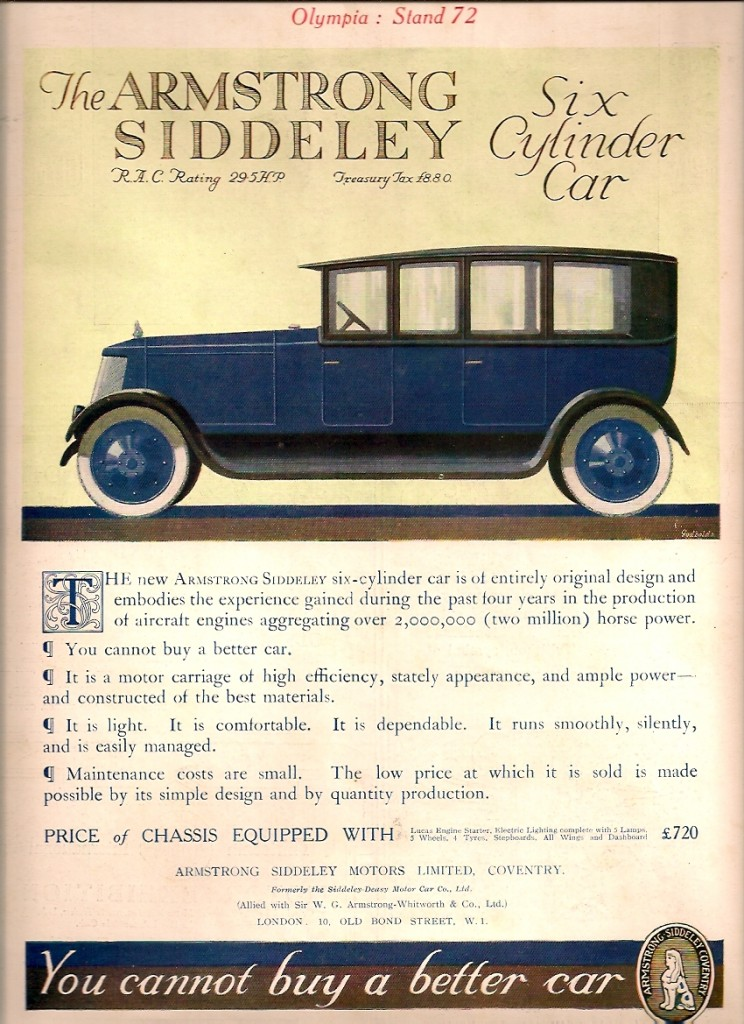 Armstrong Siddeley 30 HP 1919