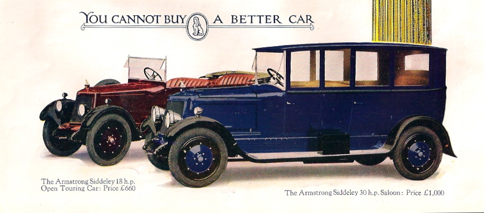 Armstrong Siddeley 30 and 18 HP cars