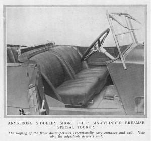 Armstrong Siddeley 18 HP Braemar tourer 1926