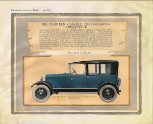 1926 Armstrong Siddeley 18 HP saloon car