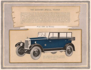 Armstrong Siddeley 14 HP Sandown tourer car