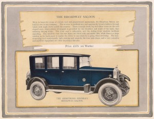 Armstrong Siddeley 14 HP Broadway saloon car