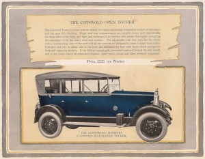 Armstrong Siddeley 14 HP Cotswold tourer