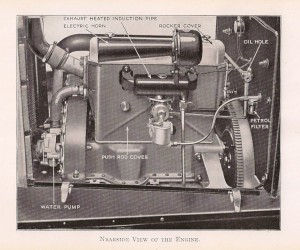 Engine near-side view Armstrong Siddeley 14 HP
