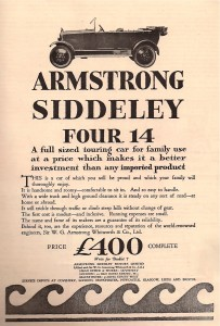 Armstrong Siddeley car 14 HP 1923