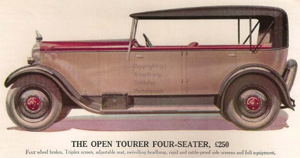 12 HP four-seater tourer 1929