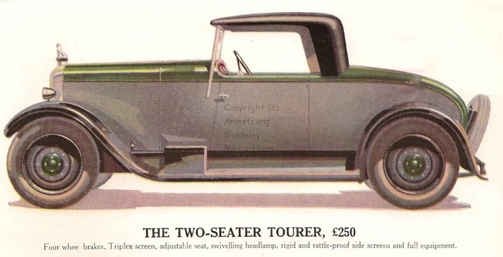 12 HP two-seater tourer 1929