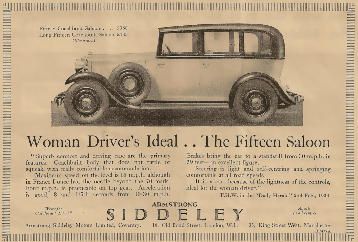 15 HP Armstrong Siddeley car 1934