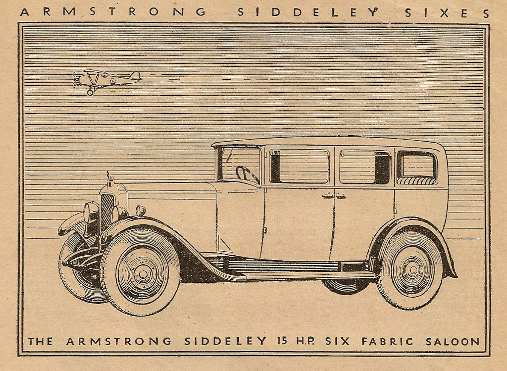 15 HP Fabric Saloon Armstrong Siddeley
