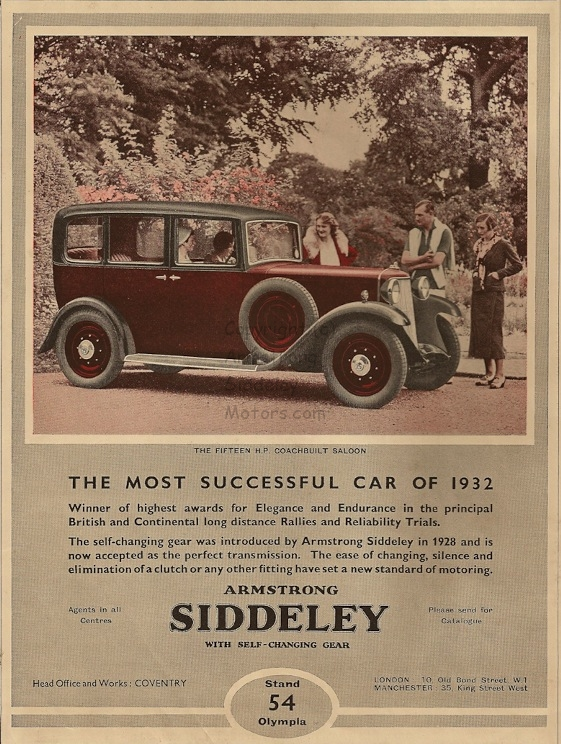 15 horse-power Armstrong Siddeley 1932