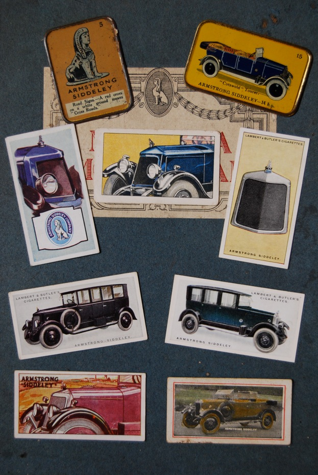Armstrong Siddeley cards, souvenirs, advertising